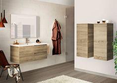 Matrice est une gamme de meubles de salle de bain qui, en plus du style, privilégie le confort d'utilisation avec des façades qui intègrent une prise en main décentrée pour plus de maniabilité. Déclinés dans 5 finitions – un blanc brillant, gris graphite, rouge vermillon, taupe clair et une teinte bois à effet scié chêne foncé -, les meubles suspendus sont disponibles en plusieurs largeurs pour proposer de multiples combinaisons. Quant au plan de toilette, il est au choix en céramique Glam…