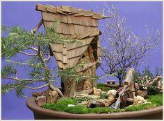 mini houses created by fairy woodland