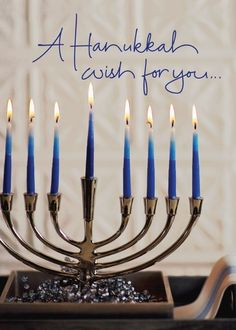 Wishes for You - Hanukkah Greeting Cards in Capri Blue | Hallmark