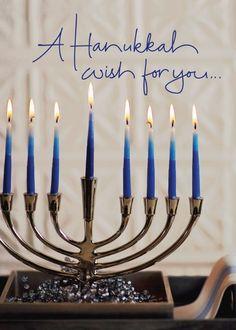 Wishes for You - Hanukkah Greeting Cards in Capri Blue   Hallmark