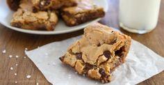Chocolade-koekjesrepen met gezouten karamel