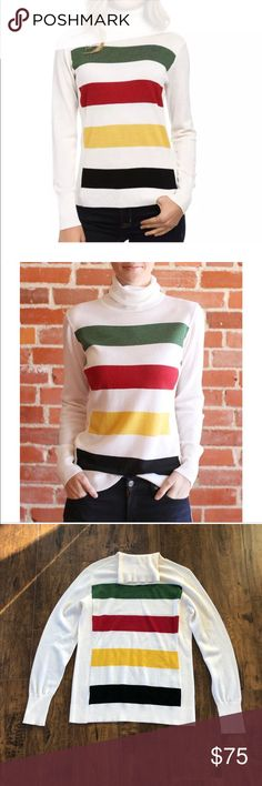 ✨HOST PICK✨ NWOT Pendleton Park Stripe Pullover. This is a beautiful top and it's 100% Merino Wool. Classic Pendleton :) I spent $160 on this and never even tried it on. Pendleton Sweaters Cowl & Turtlenecks