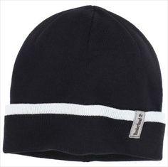 Timberland Mens Fashion Cuff Beanie Hat Black One Size