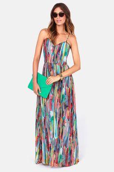 BB Dakota by Jack Bayberry Dress - Maxi Dress - Print Dress - $71.00