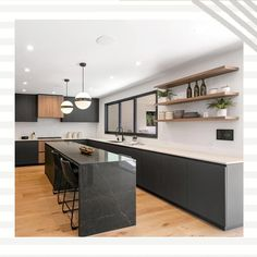 Handleless kitchen design with walnut and matte grey cabinets. Los Angeles, Dona Lola drive, CA. Grey Cabinets, Kitchen Cabinets, Wood Design, Modern Design, Handleless Kitchen, House Design, Interior, Table, Furniture