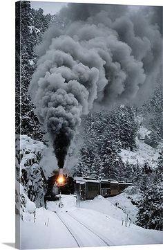 San Juan Mountains Colorado winter | ... Railroad train chugs through the snow, San Juan Mountains, Colorado