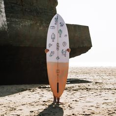 MONSTERS ARE REAL Co&Jo x Lucas Beaufort retro single fin surfboard