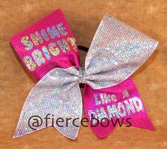 Shine Bright Like A Diamond Cheer Bow by MyFierceBows on Etsy https://www.etsy.com/listing/170798937/shine-bright-like-a-diamond-cheer-bow