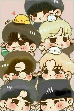 My own - (Bam's day) - Wattpad Got7 Fanart, Kpop Fanart, Yugyeom, Youngjae, Bts Got7, Got7 Funny, Memes Estúpidos, Cartoon Fan, I Got 7