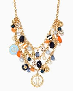 Sea of Charms Necklace | Fashion Jewelry - Nautical Chic | charming charlie