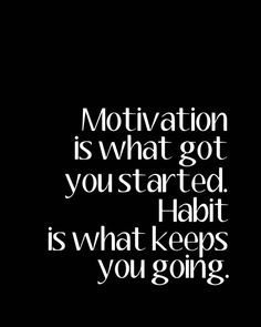 8X10 Motivation and Habit Print by CJMSquared