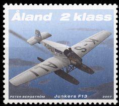 """Åland 2kl. """"Junkers F13"""" 2007 [Facit: 277, Mi: 277, Y&T: 277, Sc: 258]"""