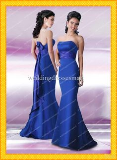 Wholesale Bridesmaid Dress - Buy Sexy Mermaid Hot Selling Royal Blue Bridesmaid Dresses Floor Length Long Elegant Custom Made Bridal Party Cheap Gowns New Arrival Gorgeous, $109.99 | DHgate
