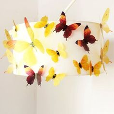 Butterfly Sticker Art Design Decal Wall Stickers Home Room Decor Kids Room Wall Decals, Wall Stickers Home Decor, Wall Stickers Murals, Window Stickers, Wall Decor, Room Decor, Butterfly Room, 3d Butterfly Wall Stickers, Yellow Accessories