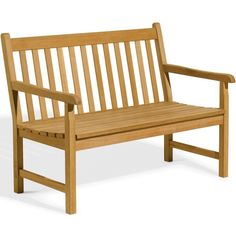 Classic 48-Inch Natural Shorea Patio Bench By Oxford Garden (€365) ❤ liked on Polyvore featuring home, outdoors, patio furniture, outdoor benches, garden patio furniture, english garden furniture, garden bench, garden glider and outdoors patio furniture
