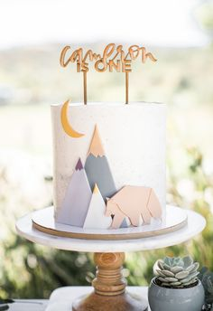 A Wild Year Adventure Birthday for Cameron Baby Boy Birthday Cake, 1 Year Old Birthday Party, Baby Boy Cakes, First Birthday Photos, First Birthday Cakes, Cakes For Boys, Boy Birthday Parties, Cake 1 Year Boy, 1 Year Old Cake