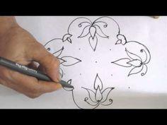 Learn 7x3 dot Rangoli Design - Traditional Indian Art