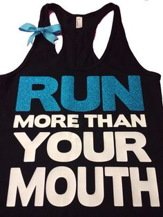 Run More Than Your Mouth - Ruffles with Love - women's fitness - women | Ruffles with Love
