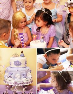 Sofia the First Inspired Royal Tea Party Birthday. Perfect for a toddler! @Hostess with the Mostess