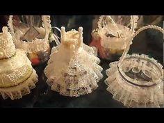 DIY como hacer vestidito rosa recuerdo bautizo - YouTube
