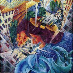 Visioni simultanee, 1911 Umberto Boccioni
