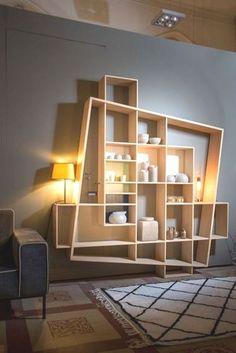 7 Terrific Modern Bookcase Ideas (High-Level Inspiration - Recently (Home Interior Design Ideas) - Diy Furniture, Furniture Design, Modular Furniture, System Furniture, Interior Design Wall, Furniture Plans, Modern Interior, Diy Home Decor, Room Decor
