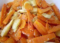 Sült zöldség köret recept foto