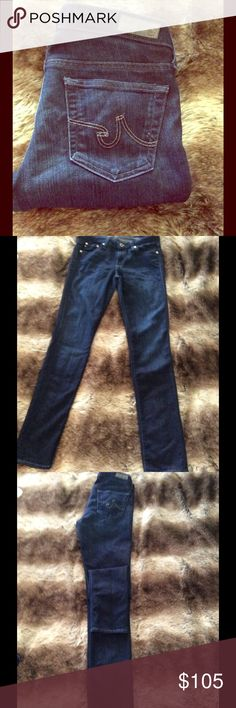 The Stilt- AG Jeans Dark denim AG jeans in the Stilt. The dark denim makes these babes great for dressing up or down. Definitely a must have staple in your wardrobe! AG Adriano Goldschmied Jeans Straight Leg