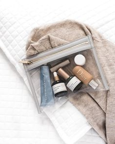 7 Travel Beauty Essentials You Have to Carry-On - LikeToKnowIt Beauty Care, Beauty Skin, Beauty Makeup, Beauty Hacks, Hair Beauty, Beauty Essentials, Travel Essentials, Purse Essentials, Travel Hacks