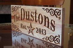 Wood Sign: Family Name Personalized Signs by BenchMarkCustomSigns