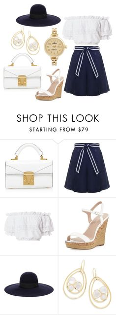 """""""Street Style No.31"""" by autumn-fox on Polyvore featuring Zimmermann, LoveShackFancy, Charles by Charles David, Maison Michel, Ippolita and Shinola"""