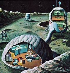 moon base   Moment d'inspiration: The mans in space