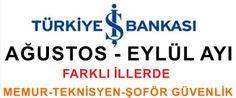 İş Bankası Memur, Teknisyen, Güvenlik ve Şoför Arıyor http://www.isbasvurusu.org/2015/08/is-bankasi-memur-teknisyen-guvenlik-ve-sofor-alimlari.html