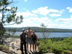 Top of the Beaver Dam Trail in Algonquin Provincial Park with an absolutely beautiful view