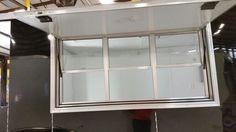 Concession Door w/ serving windows.  VISIT OUR WEBSITE : http:// www.ocillaracingllc.com  #ocillaracingllc #cargotrailers #customizedtrailer #enclosedtrailer #trailers #concessiontrailer  #ocilla #georgia #ga