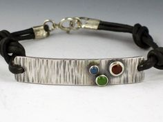 Sterling Silver and Leather Bracelet. $110.00, via Etsy.