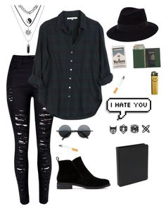 """""""I bet you're bumming cigarettes off saints"""" by simply-punk ❤ liked on Polyvore featuring Xirena, Lucky Brand, Maison Michel, Retrò, Royce Leather, Topshop, women's clothing, women, female and woman"""
