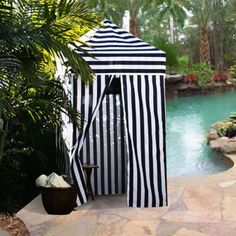 $65--Changing Portable Cabana Stripe Room Privacy Tent Pool Camping Outdoor EZ Pop Up   eBay