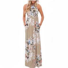 b4ddaaaad58 Boho Floral Printed Maxi Sundress. Boho Summer DressesBoho DressBeach ...