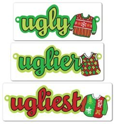 Cute Ugly Sweater Day flyer