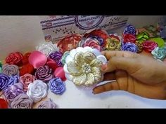 YouTube Nylon Flowers, Felt Flowers, Diy Flowers, Paper Flowers, Ribbon Crafts, Flower Crafts, Diy Crafts, Making Fabric Flowers, Flower Making