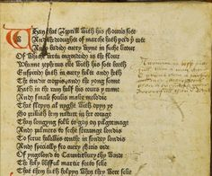 William Caxton printed this edition of Chaucer's Canterbury Tales sometime in the middle of the 15th century, probably 1476.