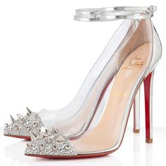 """now THAT'S my kind of """"glass slipper""""!!Christian Louboutin"""