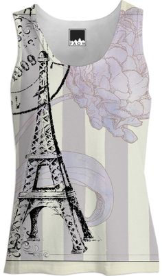 Paris Tank Top Blouse - Eiffel Tower Paris Fashion from Print All Over Me - designed by Anahi DeCanio for ArtyZen Studios
