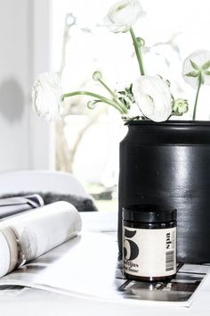 Paint an old jar black. See how pretty it is. This is from House No 31
