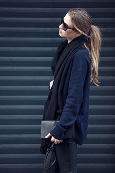 Everything black & blue.