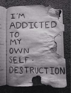 It's my one and only goal in life!! Total self destruction!! Many times in my past I knew this feeling. https://www.goodreads.com/book/show/22090777-my-secret-revealedwendyleonecretten.weebly.com