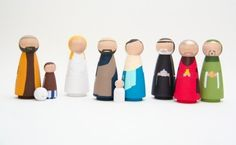 SALE  A Hand Painted Nativity Set  Wooden Dolls  by goosegrease, $175.00