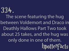 Harry Potter Facts Draco Malfoy Lord Voldemort