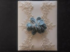 Memory Album Wedding Ivory Blue Lace by ArtisanFeltStudio on Etsy